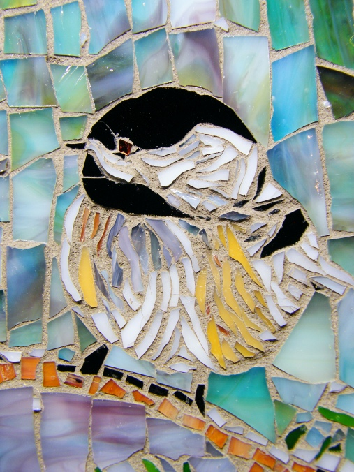 Snowy Chickadees detail 2