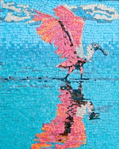 spoonbill mosaic